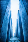 Labyrinth from Holocaust memorial in Berlin, Germany Royalty Free Stock Image