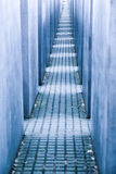 Labyrinth from Holocaust memorial in Berlin, Germany Royalty Free Stock Photo