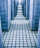 Labyrinth from Holocaust memorial in Berlin, Germany Stock Images