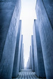 Labyrinth from Holocaust memorial in Berlin, Germany Stock Photography