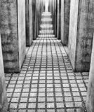 Labyrinth from Holocaust memorial in Berlin, Germany Stock Image
