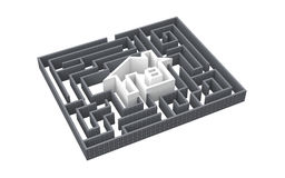 Labyrinth house Royalty Free Stock Photography