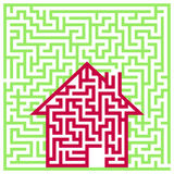 Labyrinth House Stock Image