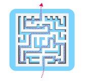 Labyrinth illustration Stock Image