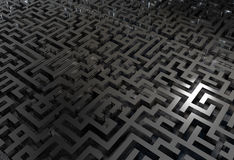 Labyrinth. Illustration of a labyrinth made in 3D stock illustration