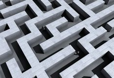 Labyrinth. Illustration of a labyrinth made in 3D vector illustration