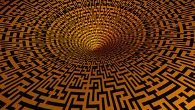Labyrinth. Illustration of a labyrinth made in 3D Royalty Free Stock Photos