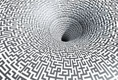 Labyrinth. Illustration of a labyrinth made in 3D Stock Photography