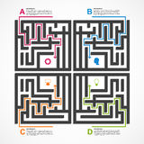 Labyrinth infographic concept. Design template. Royalty Free Stock Photos