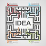 Labyrinth infographic concept. Design template. Stock Images