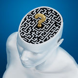 Labyrinth inside human head Stock Photos
