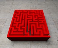 A labyrinth  in interiors perspective on background texture Royalty Free Stock Photography