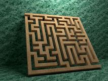 A labyrinth  in interiors perspective on background texture Royalty Free Stock Image