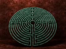 A labyrinth  in interiors perspective on background texture Stock Photos