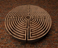 A labyrinth  in interiors perspective on background texture Stock Photo
