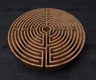 A labyrinth  in interiors perspective on background texture Stock Photography