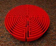 A labyrinth  in interiors perspective on background texture Stock Images