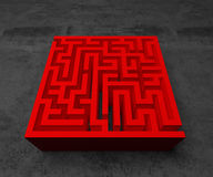 A labyrinth  in interiors perspective on background texture Royalty Free Stock Images