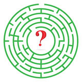 Labyrinth with interrogation mark vector Royalty Free Stock Photography