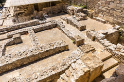 Labyrinth in Knossos-Palast Stockfotos