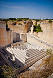 Labyrinth in the Lithica quarry, Minorca, Spain Stock Image