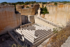 Labyrinth in the Lithica quarry, Minorca, Spain Stock Images