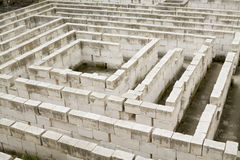 The labyrinth of Lithica, S'Hostal Quarries Royalty Free Stock Images