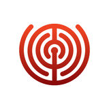 Labyrinth logo. maze emblem for company. Business template sign Royalty Free Stock Image