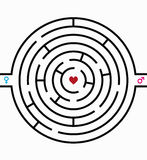 Labyrinth of love Royalty Free Stock Photo