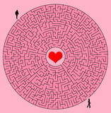 Labyrinth of love. Things being complicated in love Royalty Free Stock Photos