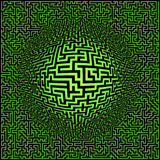 Labyrinth maze background Stock Photos