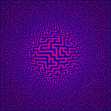 Labyrinth maze background. With sphere center Stock Photo