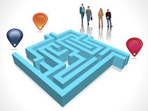 Labyrinth maze concept with business Royalty Free Stock Image
