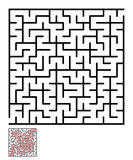 Labyrinth, maze conundrum for kids Royalty Free Stock Photos