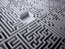 Labyrinth maze with empty space inside Stock Photo