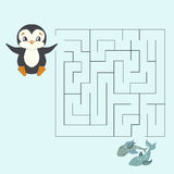 Labyrinth maze find a way kids layout for game Royalty Free Stock Photos