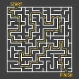 Labyrinth maze game with solution. Path from start to finish. Business concept Royalty Free Stock Photos