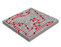 labyrinth/maze made with 3D effect Royalty Free Stock Photography