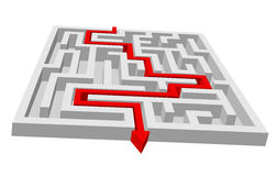 Labyrinth - maze puzzle Stock Photo
