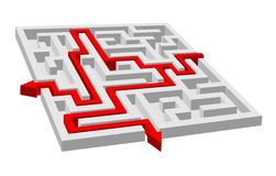 Labyrinth - maze puzzle Royalty Free Stock Photos