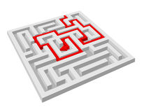 Labyrinth - maze puzzle Royalty Free Stock Images