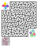 Labyrinth maze puzzle Stock Photography