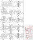 Labyrinth Maze for relax time Stock Photo