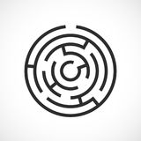 Labyrinth maze vector icon Stock Images