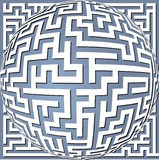 Labyrinth meander Royalty Free Stock Photos