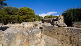 Labyrinth of the Minotaur - the Palace of Knossos Royalty Free Stock Photography
