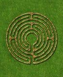 Labyrinth mit 6 Kreisläufen Stockfotografie