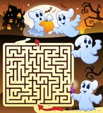 Labyrinth 3 mit Halloween-thematics Stockbilder