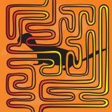 Labyrinth mit Tier Lizenzfreies Stockfoto