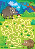Labyrinth 29 mit wilden Schweinen Lizenzfreies Stockfoto